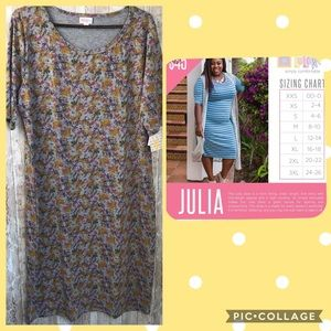 NWT Lularoe Julia 3X Gray fall colored bodycon
